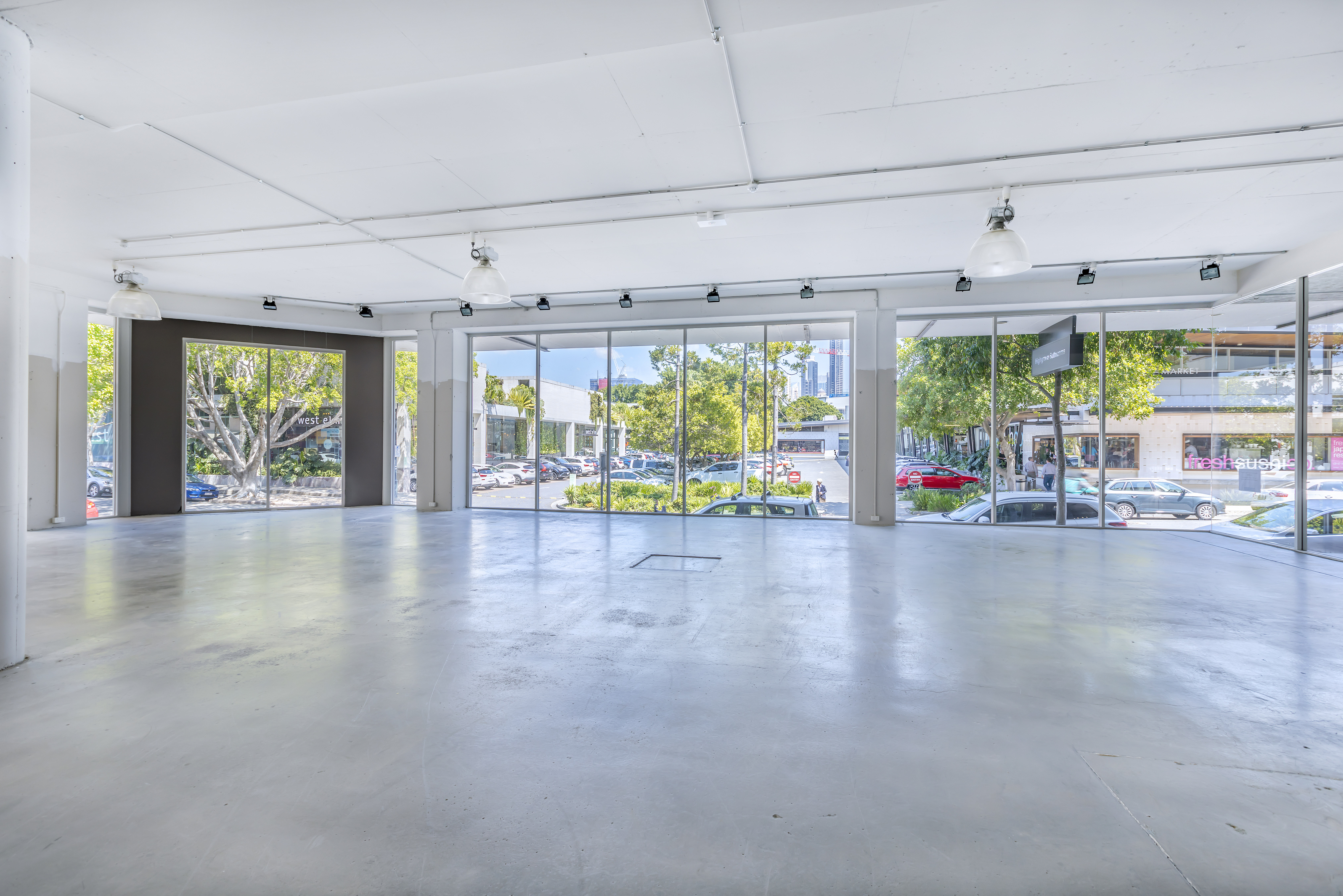 Fortitude Valley commercial retail tenancies in James Street Precinct - Brisbane property real estate agency - Retail showroom next to James Street Markets, West Elm, Pottery Barn