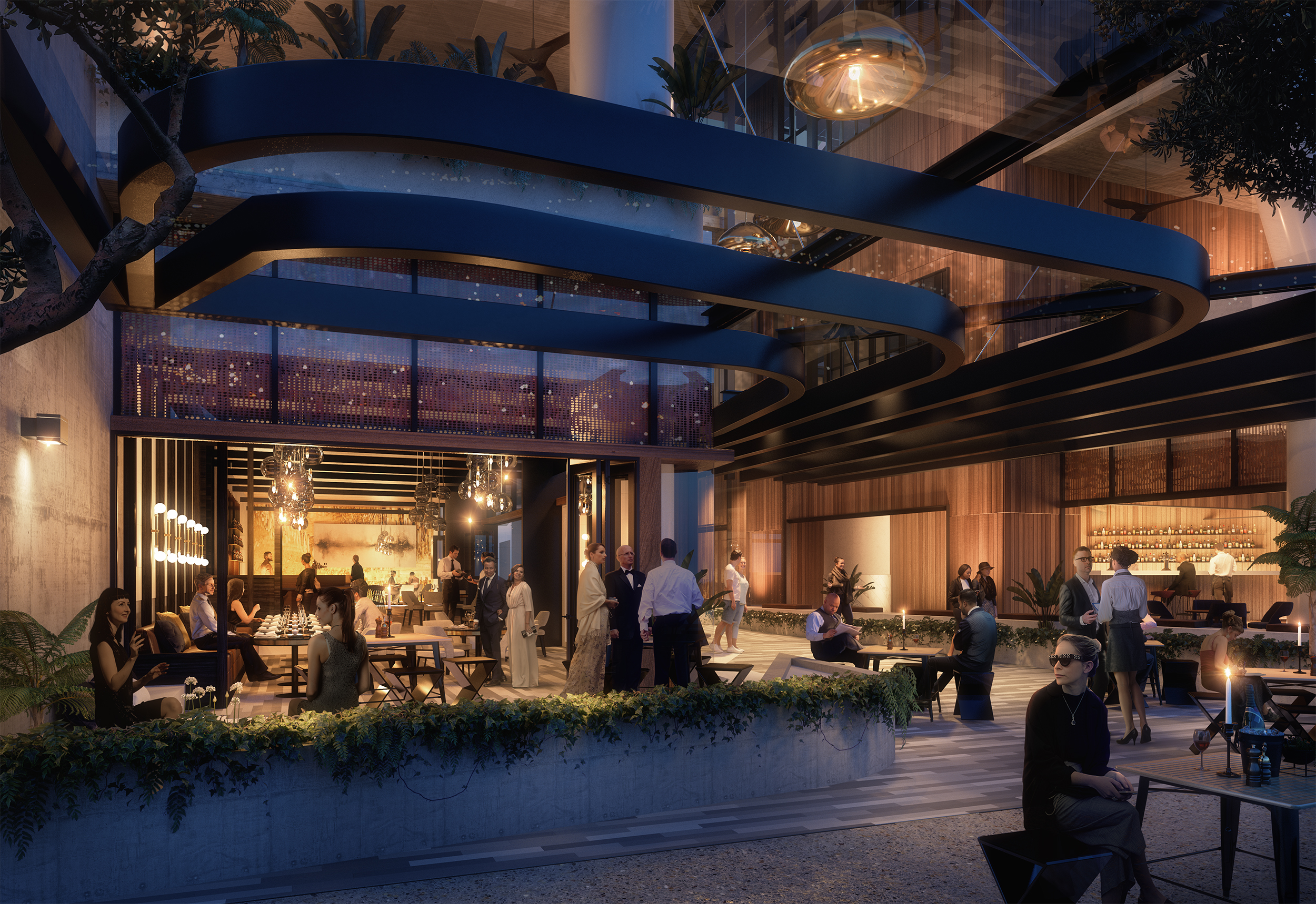 The Westin Hotel commercial retail for lease, Brisbane City